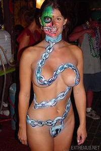 Some good halloween-related bodypaint